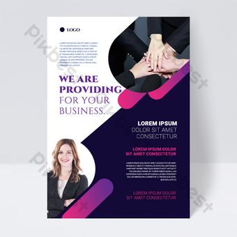 folleto de negocios abstracto colorido textura simple forma Modelo PSD