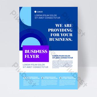 folleto de negocios abstracto colorido simple forma azul Modelo PSD