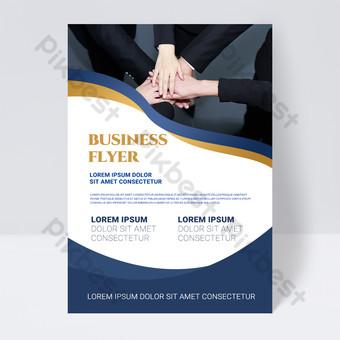 folleto de negocios abstracto colorido simple forma blanca Modelo PSD