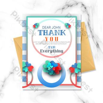 amor colorido gracias tarjeta Modelo PSD