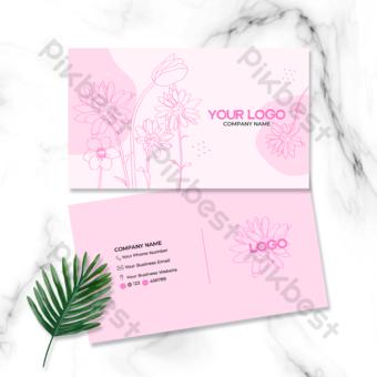 Ligne Fleur Beauty Care Card Carte de visite Modèle PSD