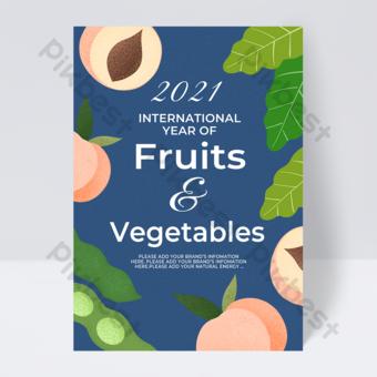 Pêche International Fruit Year Flyer Modèle PSD