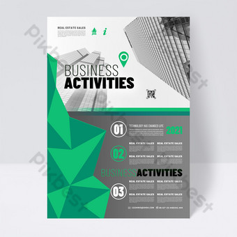 Fashion green business promotion single page Template PSD