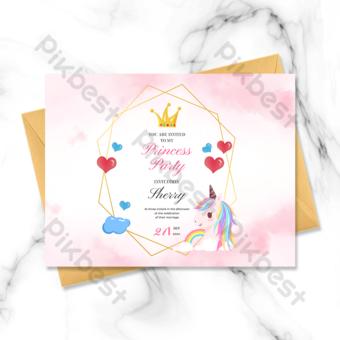Tarjeta de felicitación de la corona amor Modelo PSD