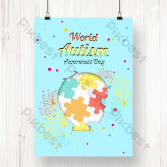 Poster Hari Gereja Dunia Biru Templat PSD