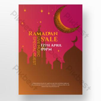 Poster Ramadhan Gereja Islam Templat PSD