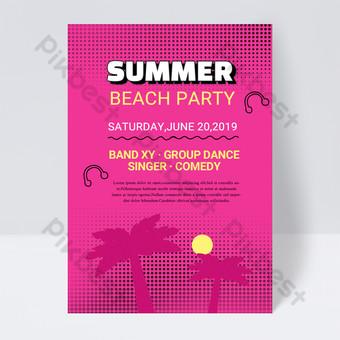 Modèle de flyer de fête de fête de plage d'été de 90 ans Modèle PSD