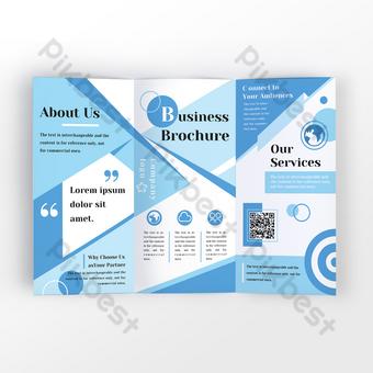 Blue Simple Manuel d'affaires géométrique coloré abstraite Modèle PSD