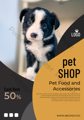 Pet Shop Promotion Advertising Leaflet Modern Poster Template PSD
