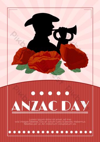Silueta de sombrero rojo silueta australiana nuevo día legion Modelo PSD