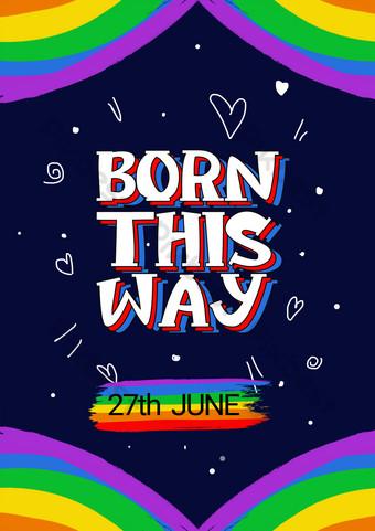 لون بسيطة مثلي الجنس فخر ملصق قالب الترويجية قالب PSD