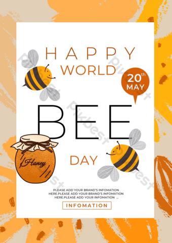 نحلة العسل ناقلة العالم النحل قالب PSD