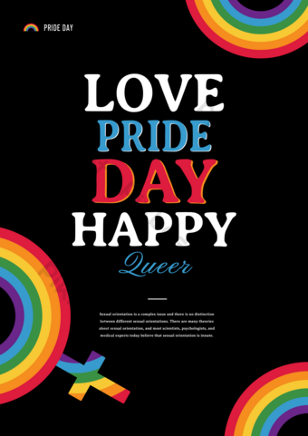 قالب ملصق مثلي الجنس بسيط قالب PSD
