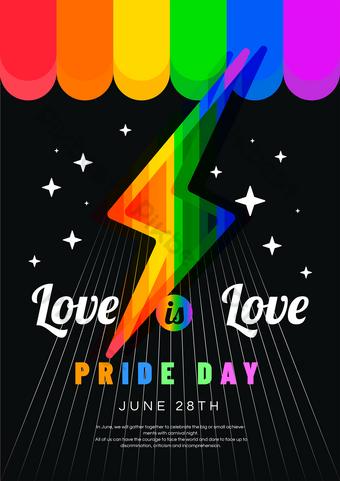 لون مثلي الجنس قالب EPS