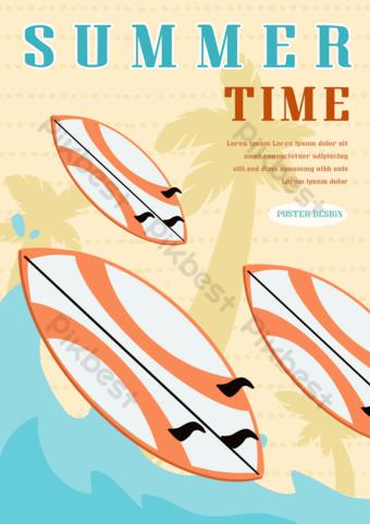 Seaside summer seafood surf Template PSD