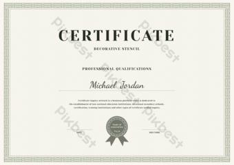 Modèle de certificat de décoration de la frontière Modèle AI