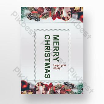 دعوة عيد الميلاد الرمادي المادية الكورية قالب PSD