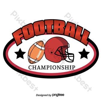 Casco con logo de fútbol americano ovalado rojo Star Rugby Elementos graficos Modelo AI