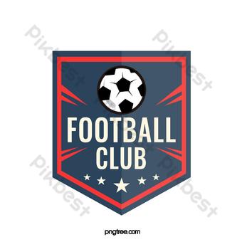 Logo vintage rojo negro del club de fútbol Elementos graficos Modelo AI