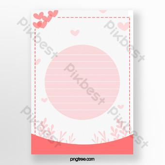 الحب الوردي دافئ قالب مذكرة بسيطة وجديدة قالب PSD