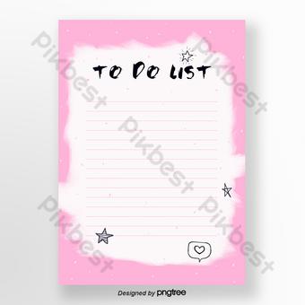 مذكرة الوردي قالب PSD