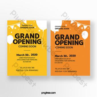 Lettre d'invitation à la cérémonie d'ouverture jaune orange Modèle AI