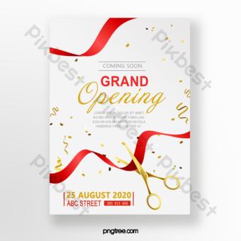 Gambar Kartu Undangan Grand Opening Template Psd Png Vektor Download Gratis Pikbest