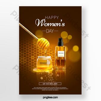 poster promosi perawatan kulit hari wanita Templat PSD