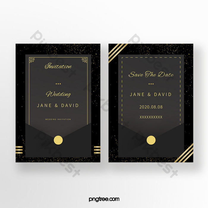High End Simple Black Gold Wind Gold Powder European Style Light Luxury Wedding Invitation Ai Free Download Pikbest
