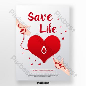 poster hari donor darah sedunia sederhana Templat PSD