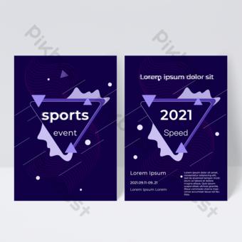 Dépliant de brochure de sport de remise en forme de ligne d'exercice de vitesse de vitalité Modèle PSD
