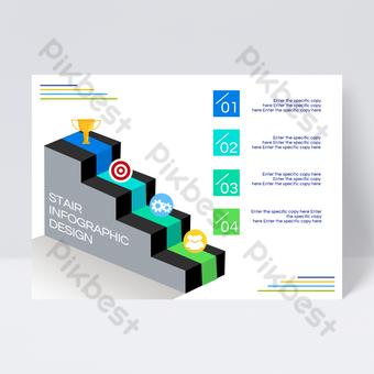 Conception de flyers d'informations sur les échelles commerciales Modèle PSD