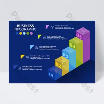 Conception de flyer d'information transparente échelle bleu foncé Modèle PSD