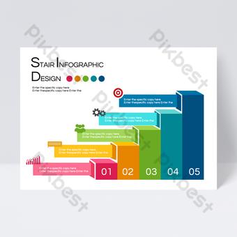 Conception de flyers d'informations d'entreprise par étapes ascendantes Modèle PSD