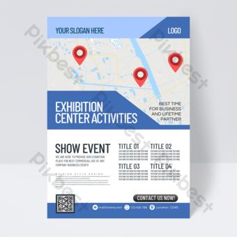 Dépliant d'événement de centre d'exposition et de convention minimaliste moderne Modèle PSD