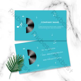音符音樂家音樂顏色名片 模板 PSD