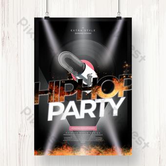 شخصية إبداعية مجموعة موسيقى حفلة كرنفال ملصق قالب PSD