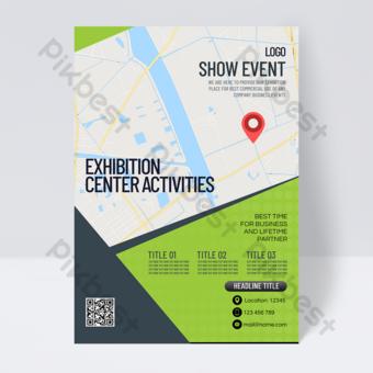 Dépliant d'événement Business Simple Convention and Exhibition Centre Modèle PSD