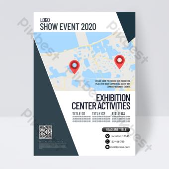 Dépliant d'événement de centre d'exposition de style professionnel Modèle PSD