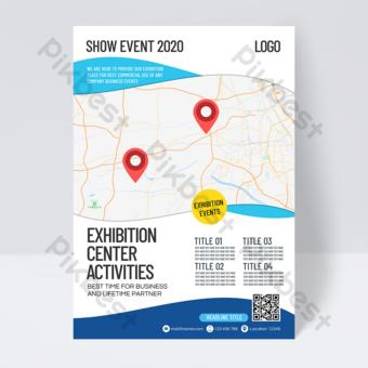 Dépliant simple de convention d'affaires et de centre d'exposition Modèle PSD