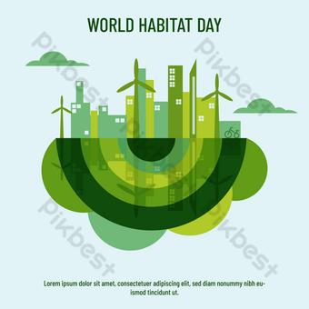 يوم الموطن العالمي الأخضر قالب AI