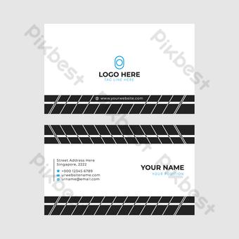 Meilleur design gratuit de carte de visite créative Modèle EPS