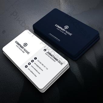 Modèle de carte de visite minimaliste noir et blanc Modèle AI