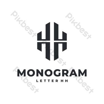 H logo vector moderno diseño geométrico simple con fondo blanco. Elementos graficos Modelo EPS