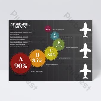 Flyer infographique de données de modèle d'avion d'idée créative de luxe de mode Modèle PSD