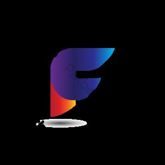desain logo huruf f berwarna-warni Elemen Grafis Templat EPS