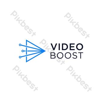 video boost logo vector diseño minimalista moderno con fondo blanco Elementos graficos Modelo EPS
