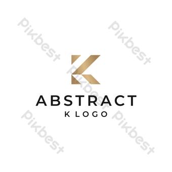 vector logo abstracto k con diseño minimalista moderno en fondo dorado y blanco Elementos graficos Modelo EPS