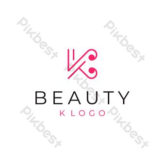 Letra k logo moderno diseño simple con fondo blanco. Elementos graficos Modelo EPS