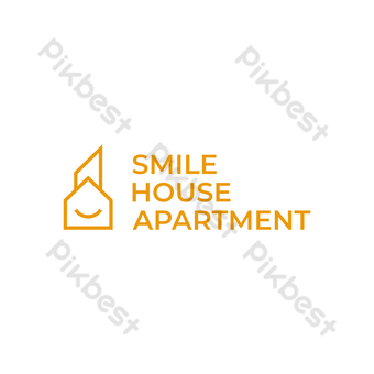 casa apartamento logo vector moderno diseño simple con símbolo de sonrisa y fondo blanco Elementos graficos Modelo EPS